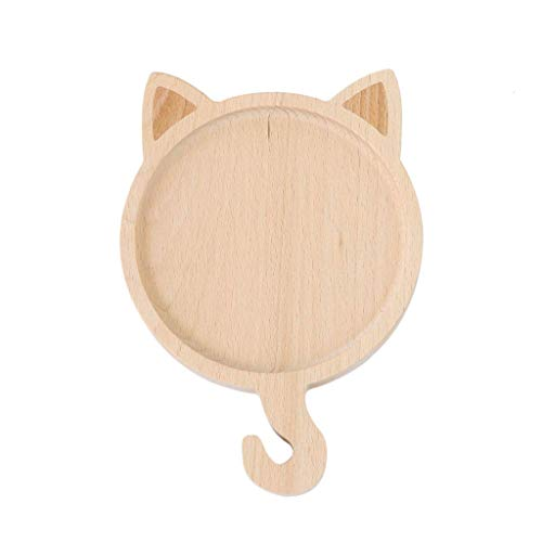 YWSZJ Wood Sauce Dish Tray Shape Solid Wood Fruit Snack Food Appetizer Plate Hanging Serving
