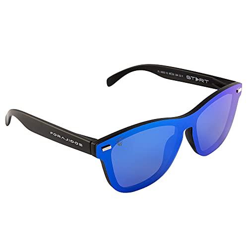 FORAJIDOS Gafas de Sol Polarizadas para Hombre y Mujer con Protección UV400 (AZUL)