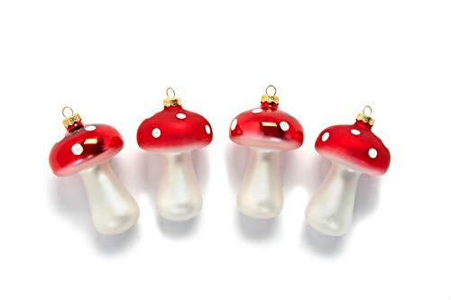 Heitmann Deco - Juego de 4 bolas decorativas para árbol de