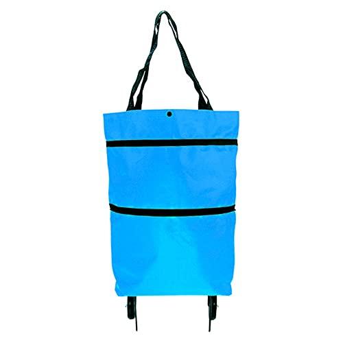 Bolsa de compras plegable con ruedas y asas Bolsas de supermercado reutilizables Bolsa con ruedas plegable Bolsa de mano impermeable de gran capacidad Carro de compras y utilitarios