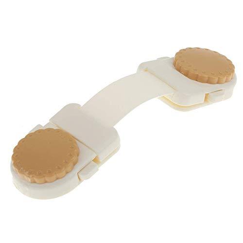 1 lucchetto di sicurezza anti-morso, con cinghia regolabile per il frigorifero, comoda e pratica sicurezza