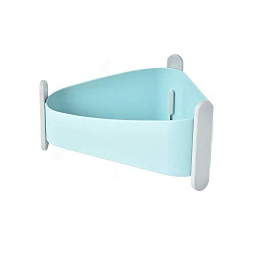 KLHHG Esquina carrito de la ducha Baño Ducha Shelf la cesta del almacenaje montado en la pared Organizador for champú,acondicionador,Estante de ducha de plástico for cocina y baño (Color : Blue)