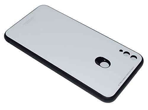 Kepuch Quartz Case Capas TPU &Voltar (Vidro Temperado) para Huawei Honor 8X Max - Branco