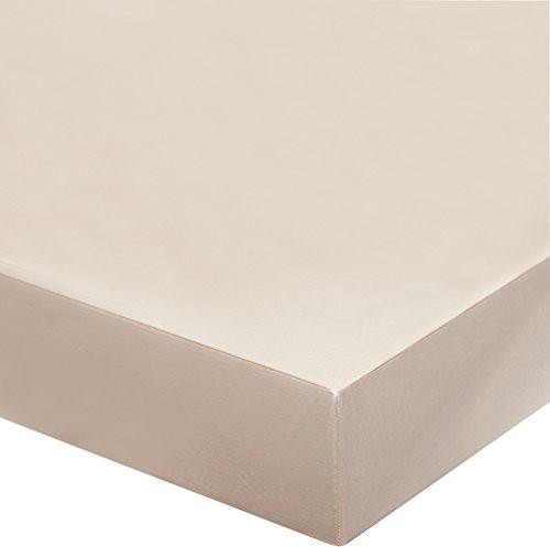 Blanc des Vosges Uni 57 fils Drap housse Coton Ivoire 120 x 190cm bonnet de 27 cm