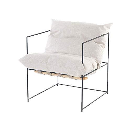 KUYH Sofá Perezoso, sillón de Ocio de Hierro Simple y Moderno, reclinable Individual, Adecuado para Sala de Estar, Dormitorio, Club, Oficina (68x68x73cm)