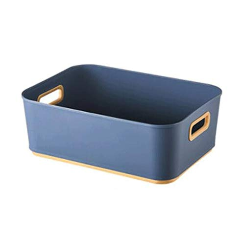 FEIHAIYANYzwl Cestas Almacenaje, 1 unids Almacenamiento Bins Cajas para Juguetes Zapatos Herramientas Ropa y más (plástico) Azul, Verde, Blanco.Size: 11x7.9x3.9in (Color : Blue)
