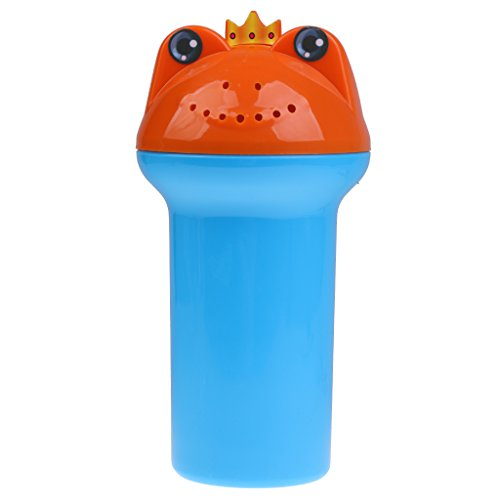 Toygogo Baby Kind Waschen Haare Augen Wasser Scoop Bad Düse Shampoo Spülen Tasse Frosch - blau, one Size