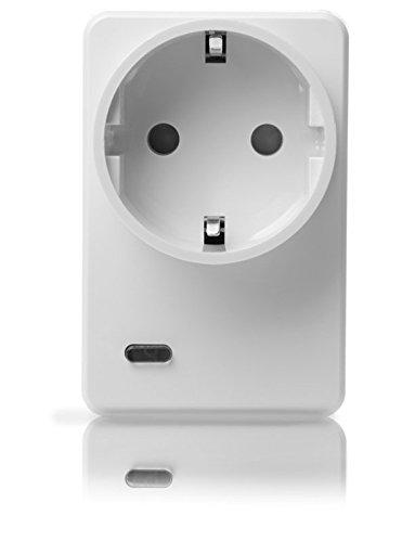 LUPUSEC Funksteckdose mit Stromzähler und ZigBee Repeater, automatisiertes Ein-/Ausschalten von Verbrauchern, Energieverbrauchsanzeige, ZigBee-Repeaterfunktion, 12050