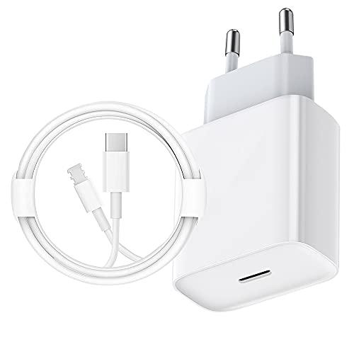 Cargador rápido USB-C – Certificado MFi – Cargador rápido de 20 W PD con cable Lightning de 4 pies C a cable Lightning tipo C para teléfono 12/12 Mini / 12 Pro / 12 Pro Max / 11 Pro Max Pad Pro