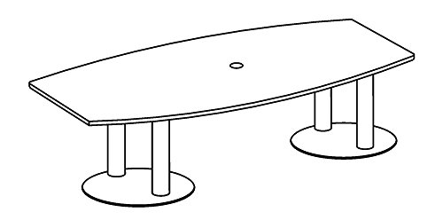 Hammerbacher Konferenztisch KT22S Säulenfüße,Eiche/chrom