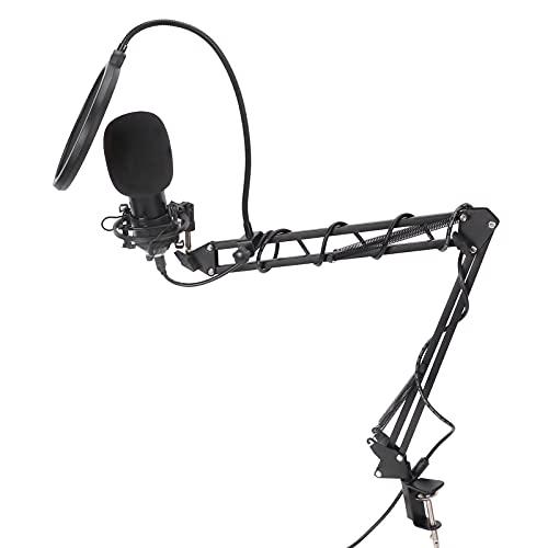 Micrófono de grabación, micrófono USB USB desmontable con soporte resistente para creación de música para grabación de audio para transmisión en vivo