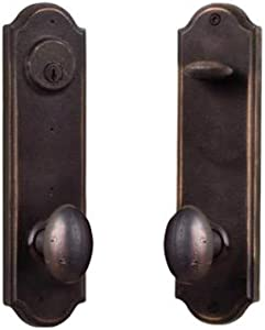 Weslock R7651M1M1SL2D Tramore Right Handed Single Cylinder Entry Set with Durham Style Knobs