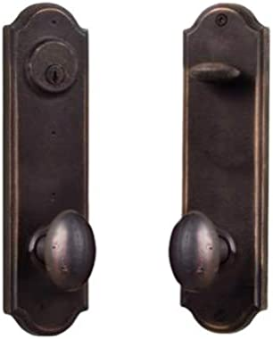 Weslock R7651M1M1SL2D Weslock 7651M-RH Tramore Right Handed Single Cylinder Entry Set with Durham Style Knobs