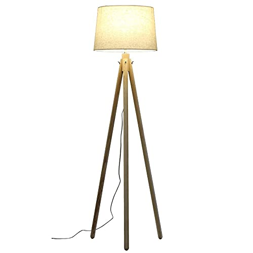 NARUJUBU Única trípode de madera Lámpara de pie, Moderno Adecuado for sala de lectura de la decoración de la lámpara el 155CM x 40cm