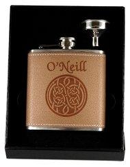 Celtic Knot Leather Flask & Funnel Box Set