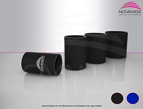NovaNox German Engineering® Silikon-Verbinder, innen 80mm Schwarz Universal Silikonschlauch Turboschlauch Anschlussschlauch Schlauchverbinder Kühlerschlauch Ladluftschlauch- Wandstärke 5 mm/Ø 80mm