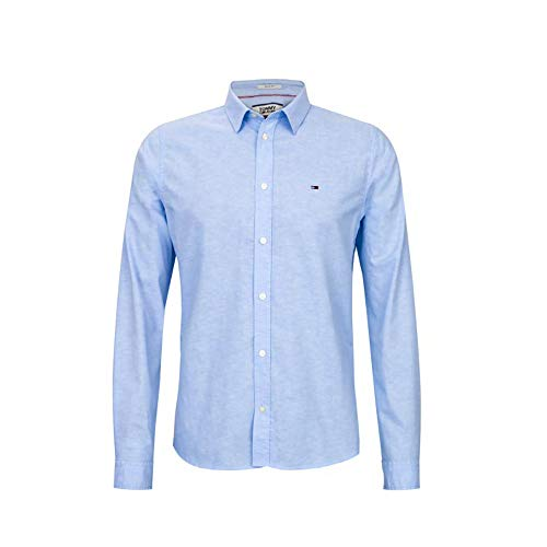 Tommy Hilfiger Oxford Shirt Slim Fit (L, Light Teal)