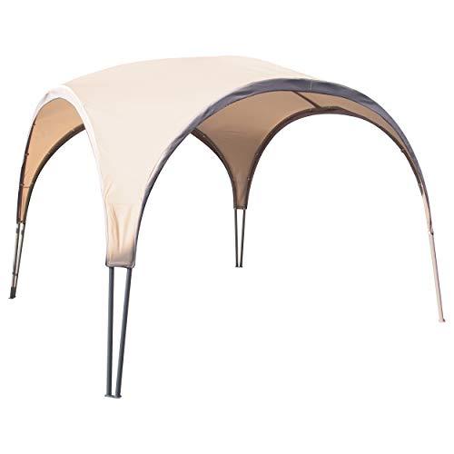 Pavillon Oromocto Beige 320 cm x 320 cm   Pavillion im trendigen Design mit attraktiven Rundbögen