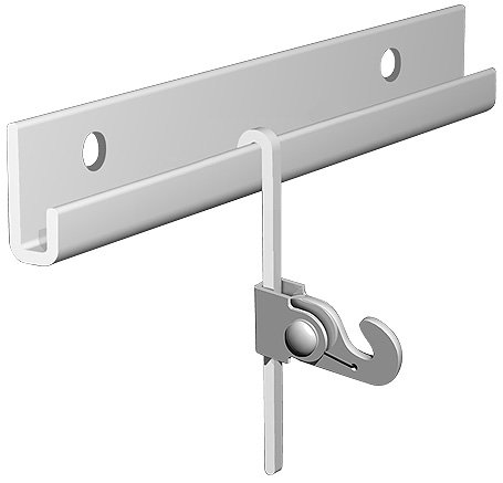 Arti Gallery French Rod Gallery 13 FT Silver Rail Kit - Two of 6-1/2 FEET or 200 cm Silver Picture Rails, Five of Sliver 6-1/2 FEET or 200 cm S-Bent Picture Rods, Five of 45 Pounds Picture Hooks)