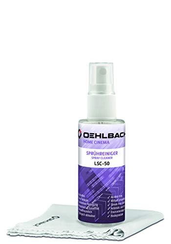 Oehlbach LSC-50 ergiebiger Reiniger für LCD, TFT, OLED Fernseher & Bildschirme inkl. Microfasertuch, Inhalt: 50ml