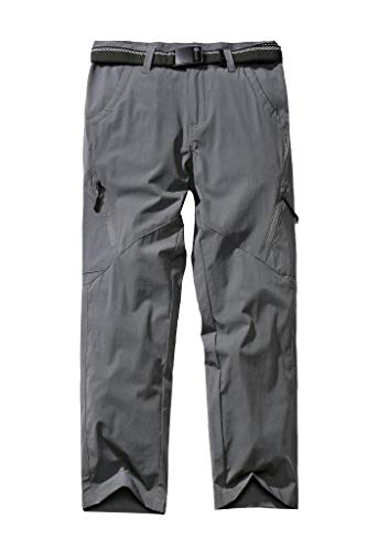 Kids'Cargo Pants, Youth Boys' Hiking Pants, Casual Outdoor Quick Dry Boy Scout Uniform Trial Pants Trousers,Grey,M(10Y)
