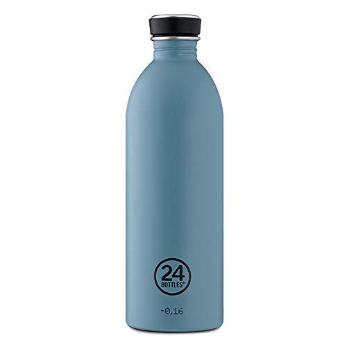 24Bottles Trinkflasche aus Edelstahl 1000ml | 1l Fassungsvermögen | BPA frei federleicht handlich | Wasserflasche für Arbeit, Schule und Sport (Powder Blue)