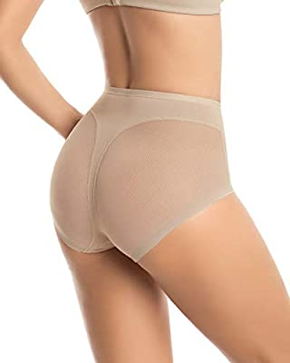 Leonisa Seamless Tummy Control Invisible Panty Girdle for Women with Butt Lifter Thong Natural Effect Mesh Shapewear Panties Beige