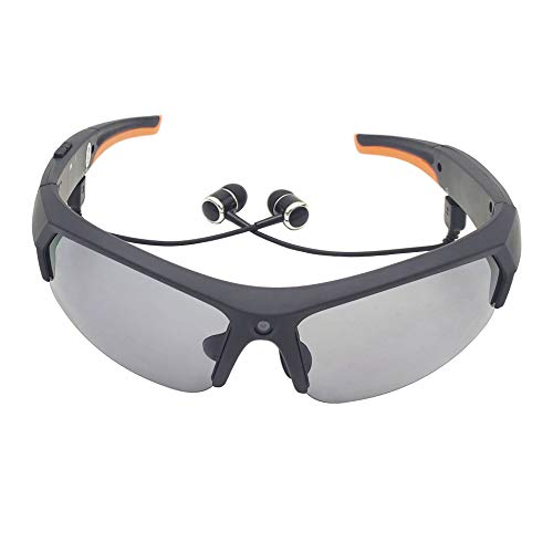 Bluetooth Sunglasses Camera for Men Built-in 32GB Memory Card Full HD 1080P Video Recorder Camera with UV Protection Polarized Lens for Driving Riding Fishing Motorcycle and Outdoor Sports