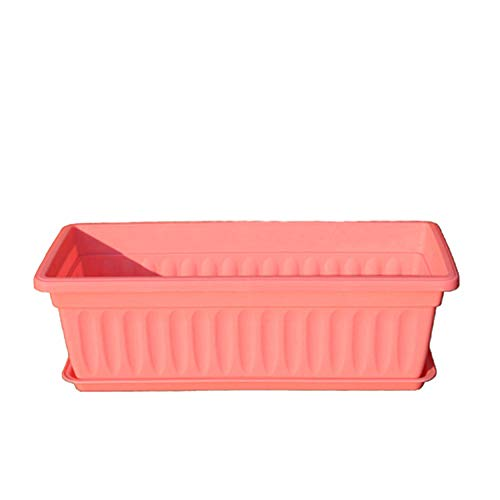 zhppac Macetas Plastico Grande Macetas Plastico Macetas para Plantas Pequeña Planta de Marihuana Jardín de macetas Semillas de ollas Macetas de Interior Pink