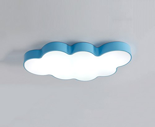 GuoShop- Blue Clouds Light Creative Individuality Chambre à coucher Plafonnier Cartoon Kids Room Light LED (Couleur : Lumière blanche, taille : 50 * 8cm)