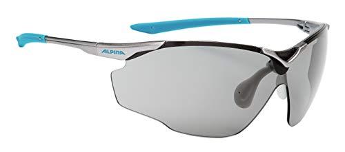 ALPINA Unisex - Erwachsene, SPLINTER SHIELD V Sportbrille, titan-cyan, One size