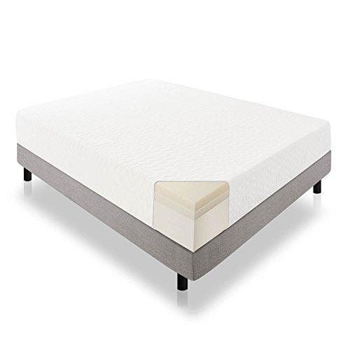 LUCID 12 Inch Gel Infused Memory Foam Mattress - Medium Feel - CertiPUR-US Certified - 10-Year Warranty - Twin XL