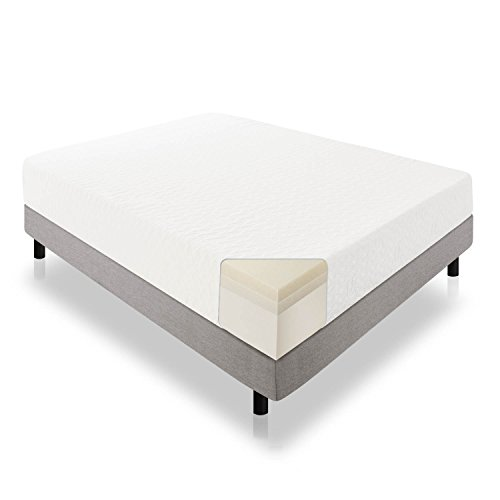 LUCID 12 Inch Gel Infused Memory Foam Mattress - CertiPUR-US Certified - 10-Year Warranty - Queen