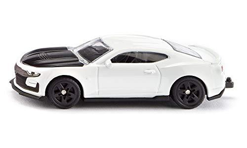 Siku 1538, Chevrolet Camaro, Metall/Kunststoff, Weiß, Motorhaube zum Öffnen, Anhängerkupplung