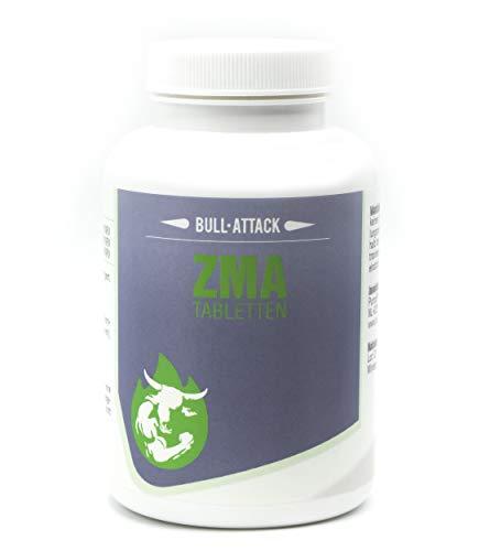 Comprimidos de ZMA - 240 comprimidos veganos - Zinc, Magnesio y Vitamina B6 - Apoya el crecimiento y la función muscular