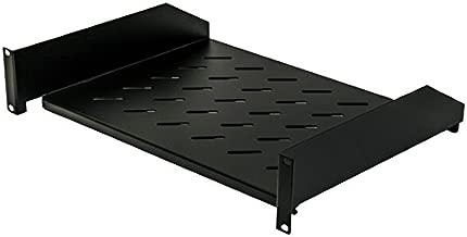 NavePoint 2U 19-Inch Universal Vented Rack Mount Cantilever Server Cabinet Shelf 14-Inches Deep Black