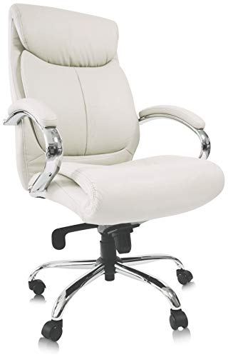 Kijng Chefsessel Kings - Weiß Chrome Kunstleder - Bürostuhl Schreibtischstuhl Drehstuhl Sessel Stuhl PokerStuhl Casinostuhl Gamerstuhl