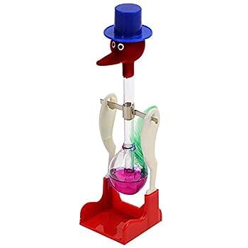 zhenleisier Creative Non-Stop Liquid Drinking Glass Lucky Bird Duck Bobbing Magic Prank Interactive Development Educational Kids Toy Gift Purple