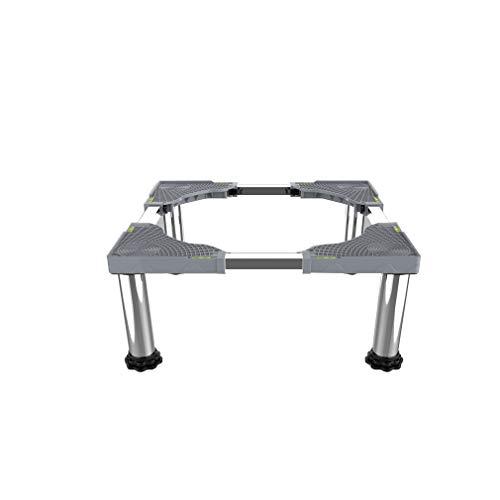 Base Ajustable Multifuncional con 4/8/12 pies Base para Secadora Lavadora Heightening 28-32cm Base Soporte del Refrigerador Bandejas de Lavadora Largo/Ancho 42-66cm