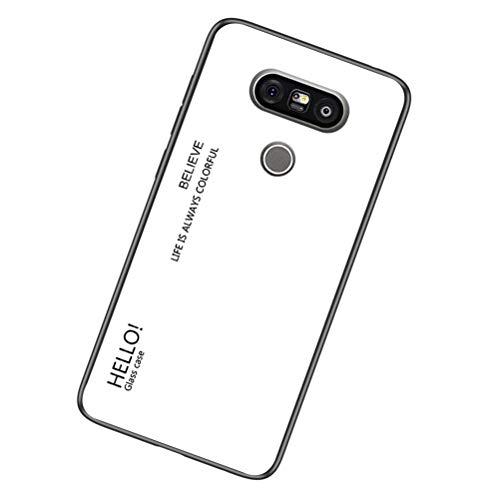 Yoota Funda LG G5, Gradiente Tapa Trasera de Cristal Templado Anti-rasguños Borde...