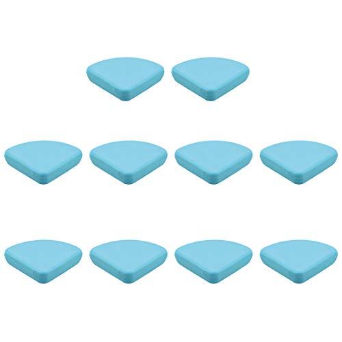 UXCELL 드 보호기 가구 테이블 모서리 보호자 접착제 부드러운 실리콘 블루 30X30X9MM 10 개