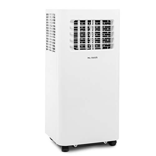 Mc Haus ARTIC-26 - Aire acondicionado portátil 9000BTU pingüino clase A ecológico, 3 en 1: refrigeración, ventilación y deshumificador, mando a distancia, hasta 25m2, color blanco