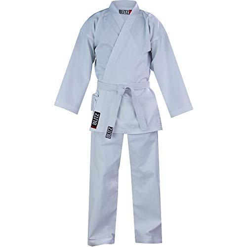 Blitz - Traje de Karate para Estudiante (algodón, 3-160 cm), Color Blanco, Hombre, Color Blanco, tamaño 3/160 cm