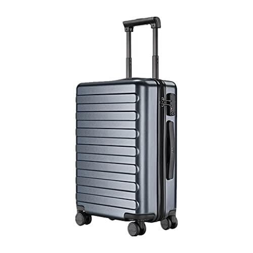 スーツケース 機内持ち込み 静音キャスター TSAロック搭載 キャリーケース ファスナー式 軽量 耐衝撃 スムーズ走行3 60度回転 スーツケース アルミフレーム 海外旅行 ビジネス出張 (グレー A)
