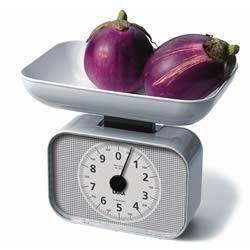 Balanza de cocina mecánica con BOL Laica KS2001 en color blanco y peso máximo 10 kg,