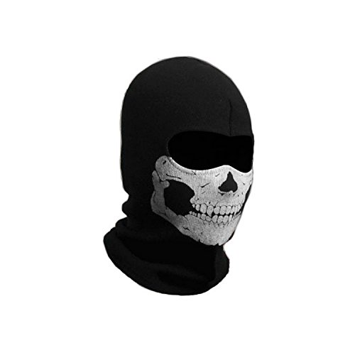BALACLAVA MASK GHOST SKULL - CALL OF DUTY MODERN WARFARE MW3 BLACK OPS BATTLEFIELD - AIRSOFT PAINTBALL OUTDOOR