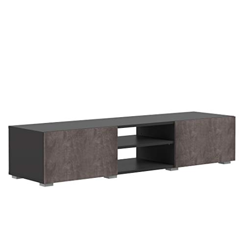 Amazon Marke - Movian Lijoki - TV-Board, 140 x 42 x 31 cm (L x T x H), Schwarz und Beton