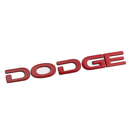Dodge Logo Emblem für Heckdeckel Heckklappen Trunk Metallbuchstaben Aufkleber für D-odge Ram,Rot