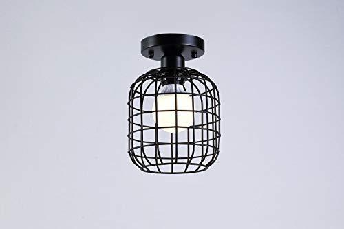 Casa perfecte retro plafondlamp, industriële lampenkap, metalen plafondlamp, plafondlamp, zwart, E27 plastic, plafondlamp, indoor Lighting Edison