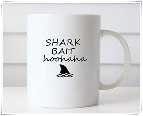 Shark Bait HooHaHa Kaffeetasse Findet Nemo Kaffeetasse Zitat Tasse Geschenkidee Teetasse Lustige Tasse Lustige Kaffeetasse Lustige Kaffeetasse 11oz Keramik Kaffeetasse Teetasse Hochglanz
